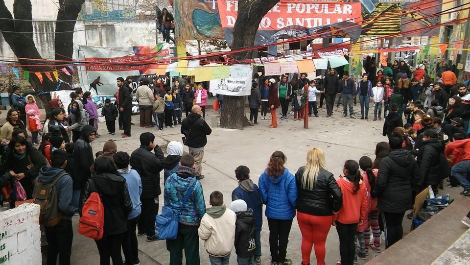 El 'Encuentro de Niñez y Territorio' participó de los homenajes a Darío y Maxi