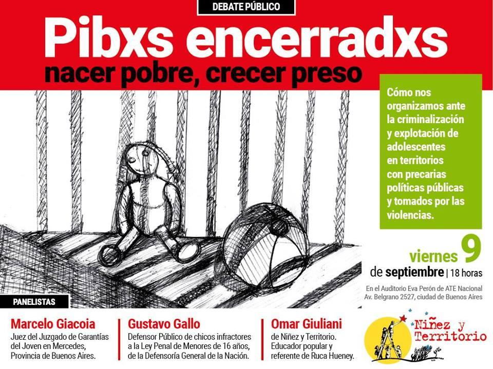 Debate público sobre la criminalización de niñxs y adolescentes