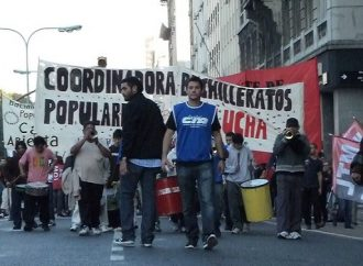 El Frente de Bachilleratos Populares de la CTAA Capital exigió al Gobierno de la Ciudad la entrega de canastas alimentarias