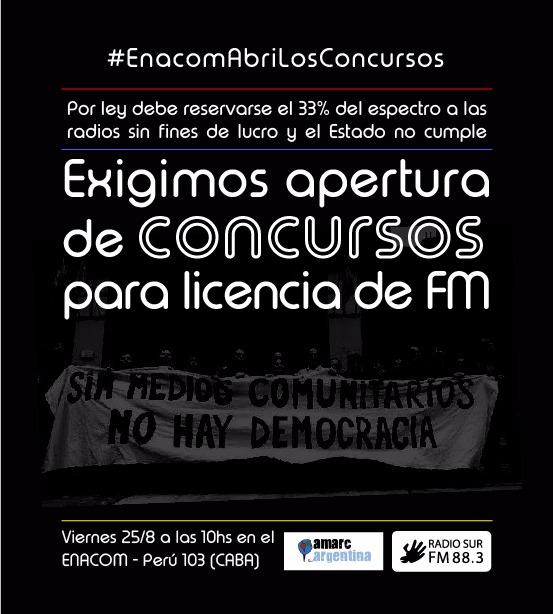 Radio Sur exigirá al Enacom apertura de concursos