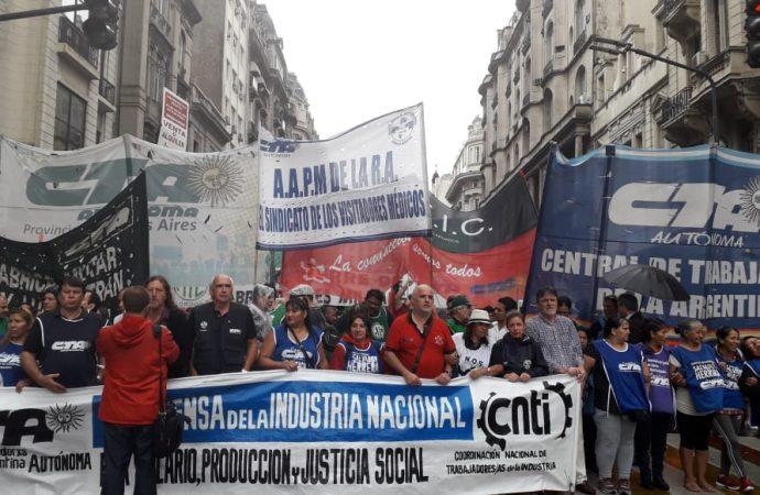 La CTA Autónoma movilizó en todo el país contra el ajuste y el industricidio