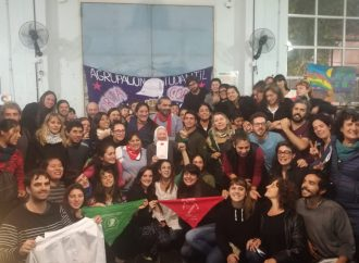 Marcha en defensa de los tres estudiantes procesados por luchar