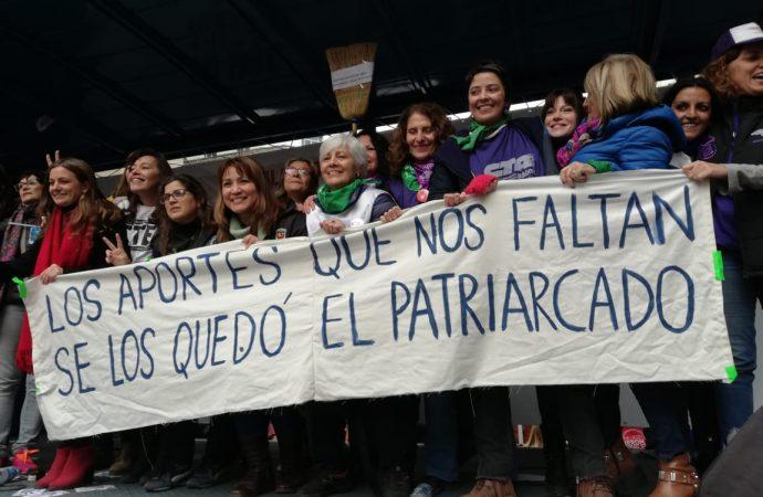 """Acto en defensa de las moratorias: """"Acá hay unidad, trabajadoras somos todas"""""""