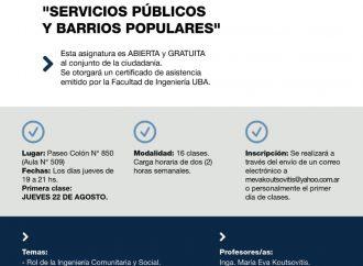 """Seminario """"Servicios públicos y barrios populares"""""""