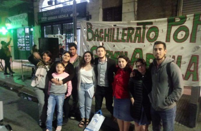 La CTAA Capital acercó su solidaridad al Bachillerato Popular Germán Abdala
