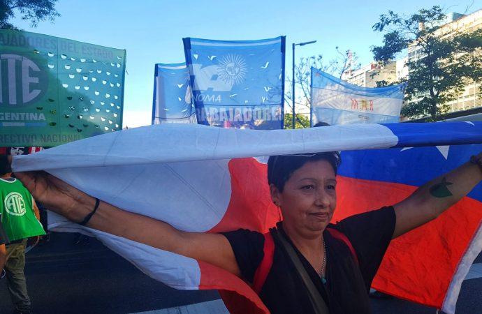 La CTAA Capital se movilizó en solidaridad con Chile