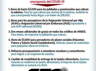 Coronavirus: Medidas aprobadas por el Gobierno Nacional