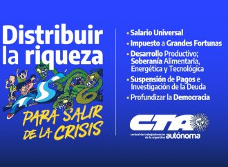 """Ningún hogar pobre en la Argentina: """"Distribuir la riqueza para salir de la crisis"""""""