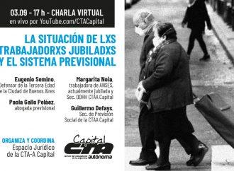 """Disertación virtual """"La situación de lxs trabajadorxs jubiladxs y el Sistema Previsional"""""""