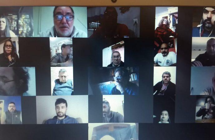 El Bloque Organizativo Gremial de la Central porteña se reunió por teleconferencia