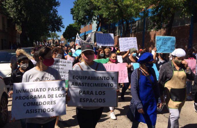 Marcha de los Espacios Comunitarios a Jefatura de Gobierno