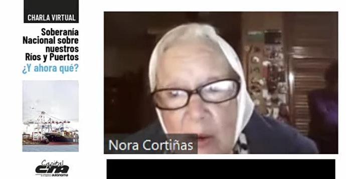 """Nora Cortiñas: """"Si el río se concesiona, nuevamente los argentinos perdemos"""""""