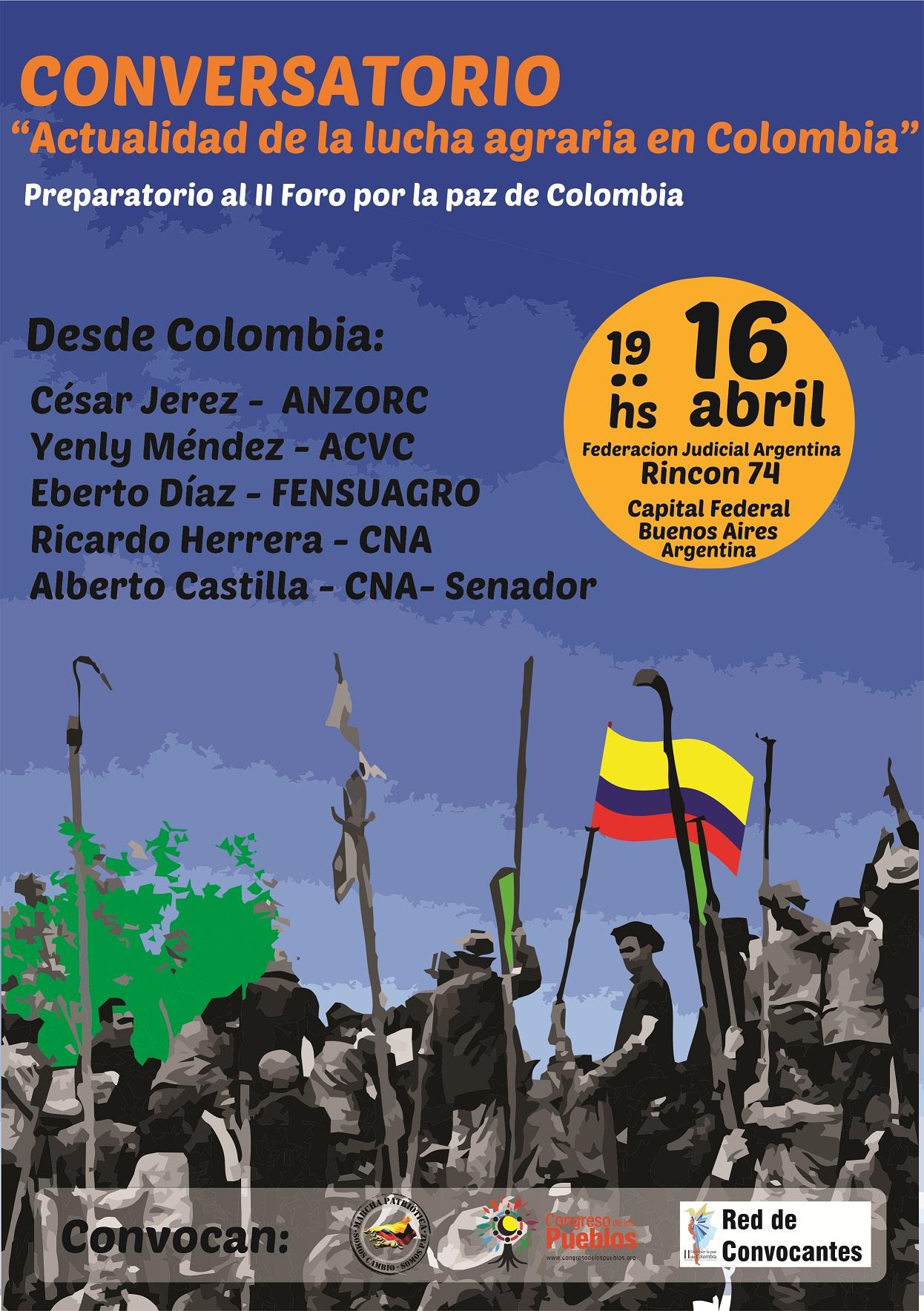 Charla-Debate: Actualidad de la Lucha Agraria en Colombia