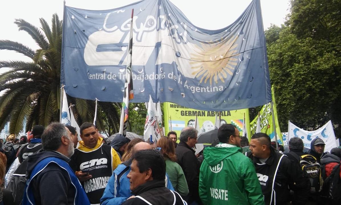 La CTAA Capital se movilizó contra del presupuesto de Macri y el FMI