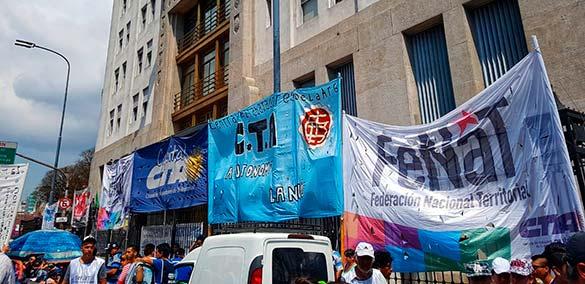 FeNaT-CTA-A hizo oír el grito de los trabajadores y trabajadoras de las barriadas