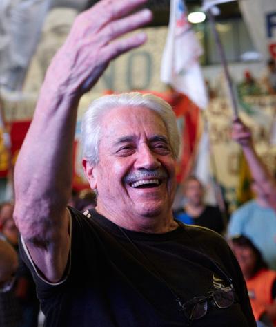 """Spataro: """"Estamos todos juntos en la calle para decir que este modelo de país nos lleva al hambre"""""""