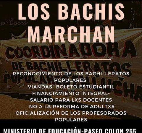 Los Bachilleratos Populares vuelven a movilizar al Ministerio de Educación de la Ciudad