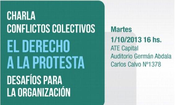 Charla: «El Derecho a la protesta, desafíos para la organización»